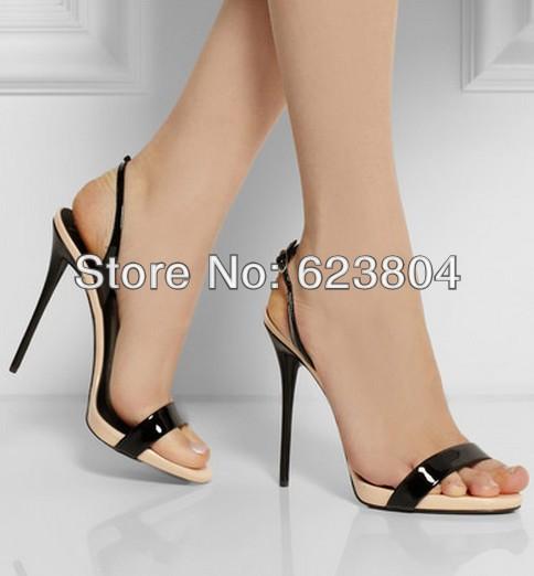 Wholesale 2015 Hot Sale Slingbacks Sandal Colorblock High Heel ...