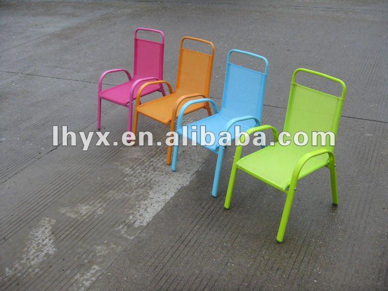 Metal children garden furniture set metal kids table and - Chaise en osier enfant ...