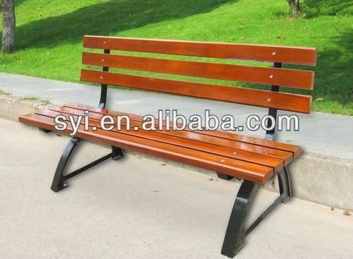 casual wood bench for park playground - SYI Group