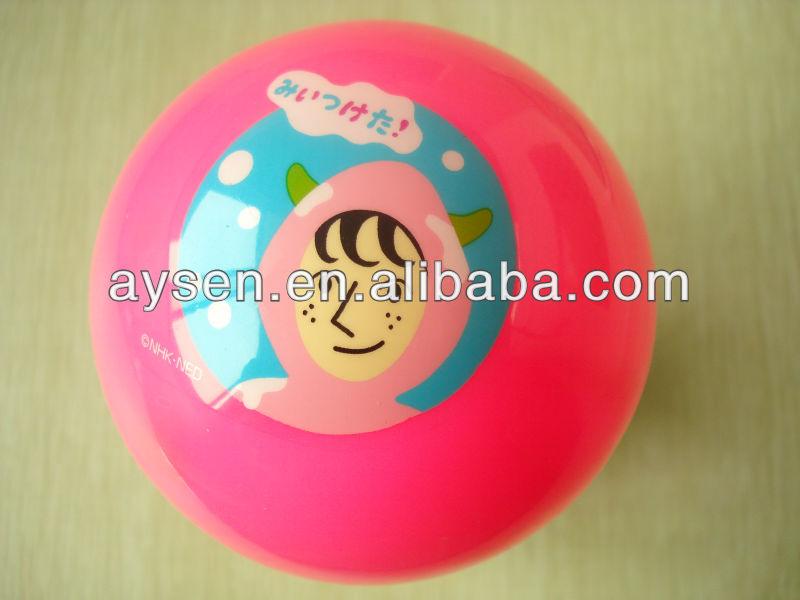 Gran playa de pvc de color impresa pelota