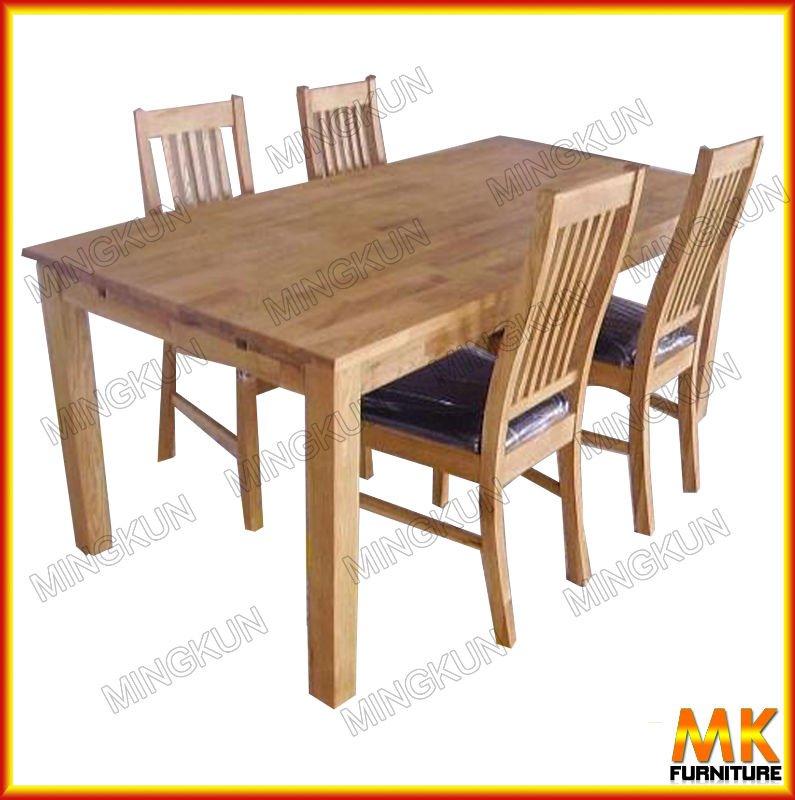 Dining room set solid wood oak furniture buy dining room for Real wood dining room sets
