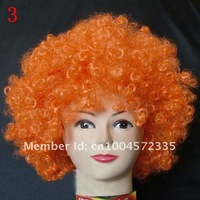 Парик Hot! EMS 50pcs/lot Cosplay wig Party wigs Fans wig Christmas Supplies Halloween gift Afro wig unisex 16 colors