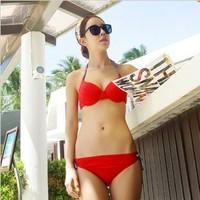 Free Shipping! Factory Price!10 COLORS!New Arrival Sexy Bikini Swimwear  Hot-selling Shoulder Strap BikiniWholesale and Retail