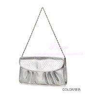 2012 Free Shipping Summer Women Lady Clutch/Evening Bag PU Leather Clutch Purse Handbag Messenger Bag Q015