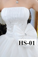 Свадебное платье 2012 Newest Design! Fashion Sleeveless Floor-length Elegant Showcase Satin Bridal Wedding Dress HS-01