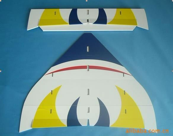 Rc airplane model balsa&fiberglass New Delta-Wing TIGER SHARK electric kit