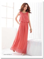 Женское платье 2013 Fashion dress cute maxi dress women graceful chiffon beach dress Bohemian style size CW040-1