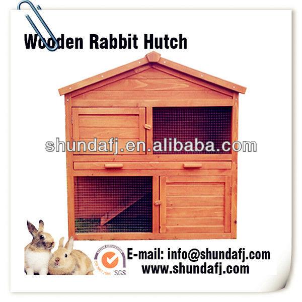SDR16 wooden rabbit hutch sale