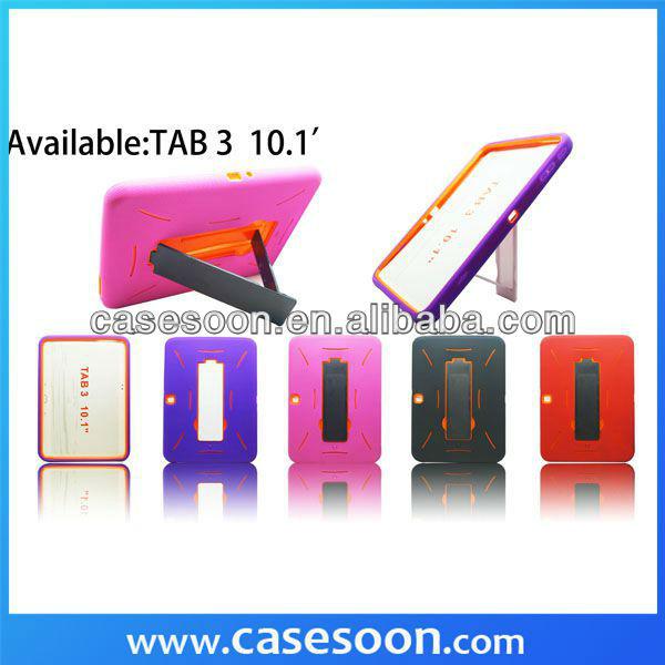 Soft Hard Combo Case For Samsung Galaxy Tab 3 10.1 P5200 P5210 With Stand,For Samsung Galaxy Tab 3 10.1 Case
