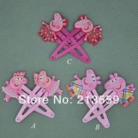 Детский аксессуар для волос 30/lot 2 Pcs Cute Peppa Pig Hairpins Hair Clips