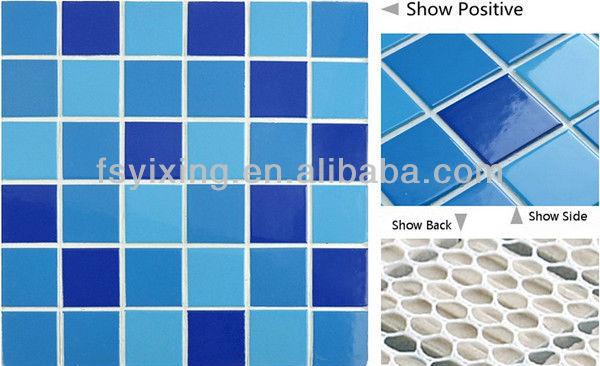 Pisos Para Baños Color Azul:WT16 Oceano azul azulejos piso em cerâmica para piscinas mosaico