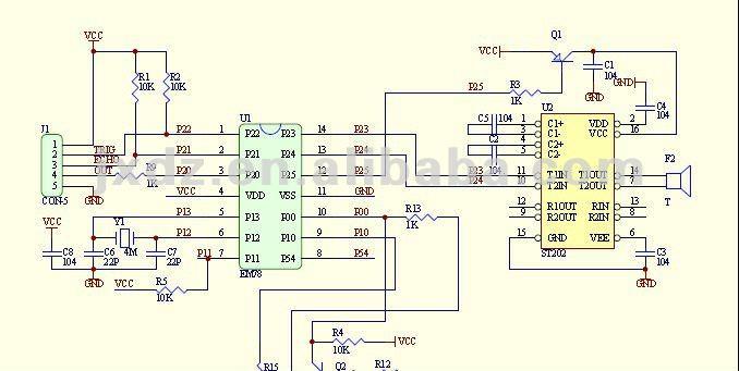 Hy-srf05 ультразвуковой датчик