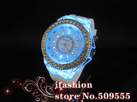 Наручные часы Boys Girls Kids School Gift Silicone Party Watch Retail Sales LED Flashing Light Item MS1008C
