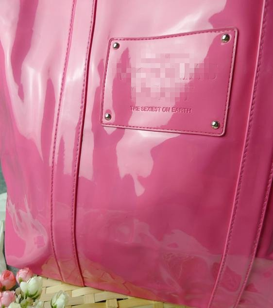 VS044 Candy Patent Pink XL Tote Bag - NWOT FREE SHIPPING
