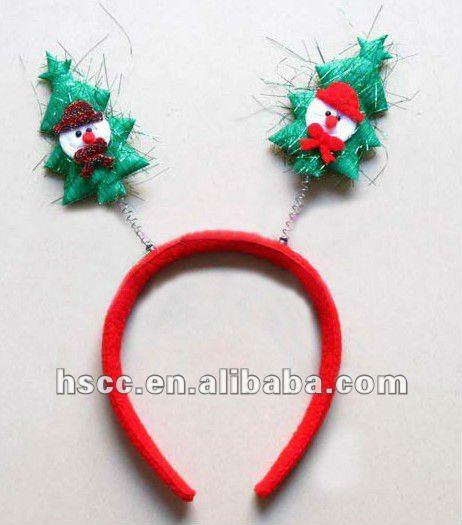 Promocional feliz arbol de navidad con snowman navidad diadema