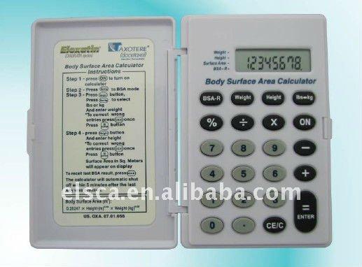 Body Surface Area Medical Calculator Health Production Calculator ...