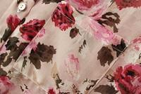 Женские блузки и Рубашки Fashion Ladies' Red Rose printing lapel sleeveless shirt st673