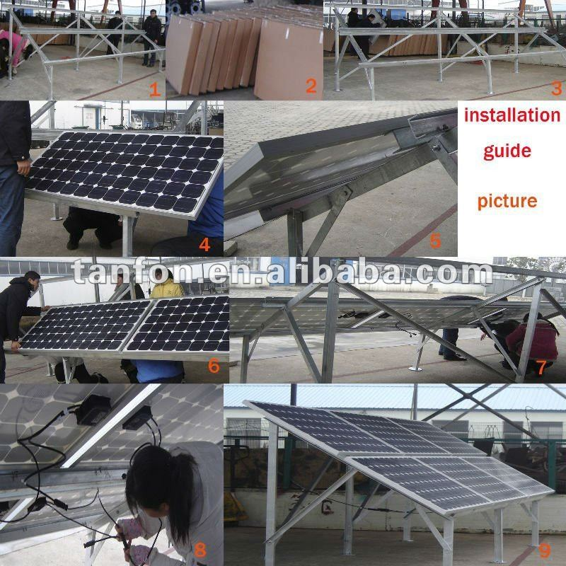 solar smd led street light solar power MPPT system high efficiency polycrystalline solar panel 230w