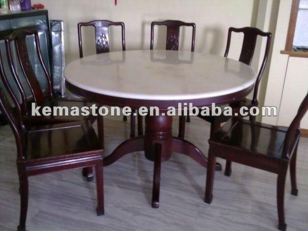 Redonda de m rmol mesa de comedor conjunto mesas comedor - Mesas de marmol de comedor ...