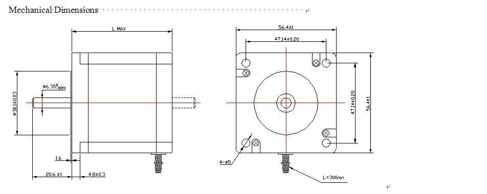 3 Axis Nema 23 Hybrid stepping motor 3.0A 13.5kg.cm  + 3 pcs DQ542MA 18-50VDC motor driver