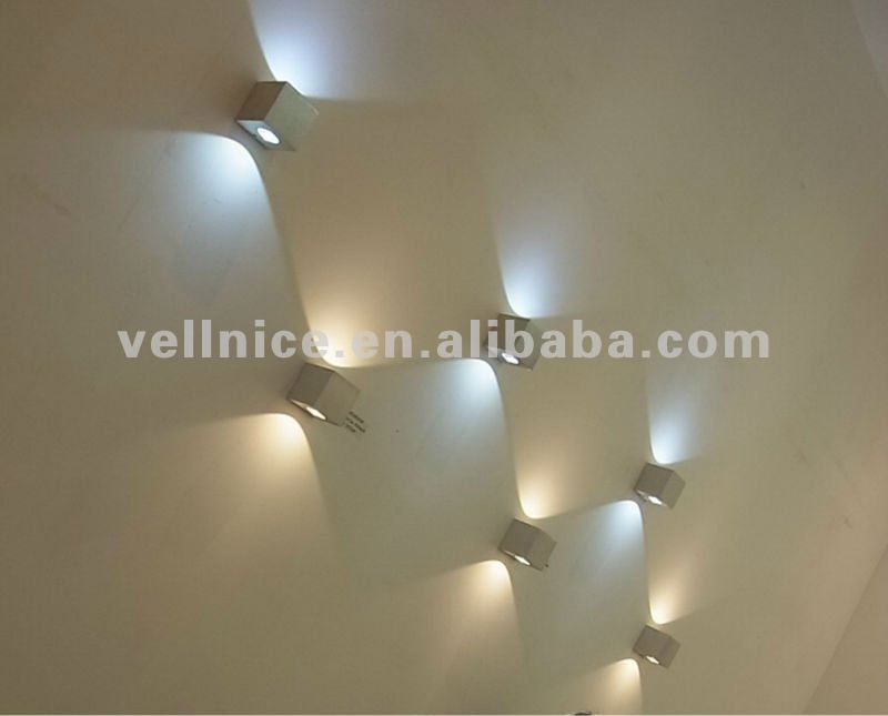 Square interior led wall light small size indoor led wall light wall light4 wall light2 aloadofball Gallery