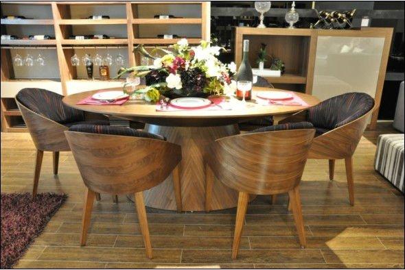 Moda Oval Em Madeira Macia Mesa De Jantar E Cadeira