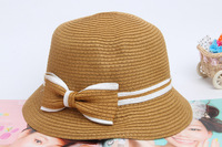 Женская шляпа от солнца Sun hats bow straw hat beach hat summer hats bucket hats 3 colors