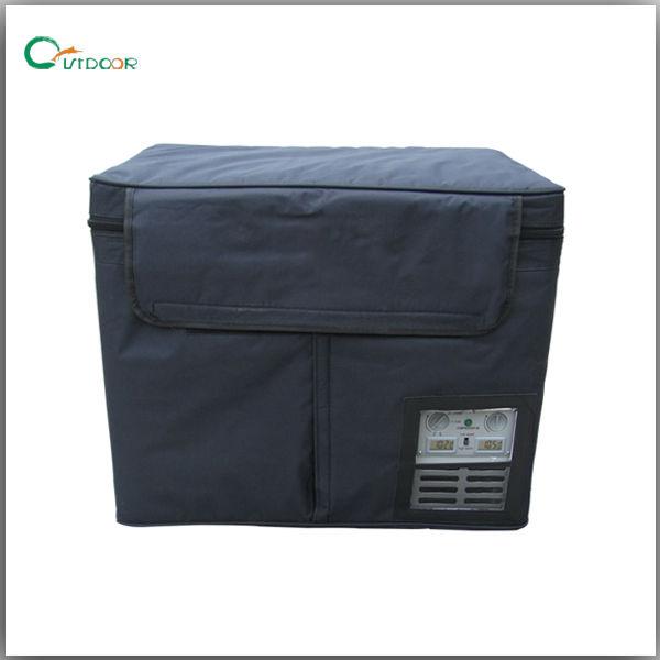 60L portable dual zone portable car freezer DC 12V/24V