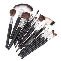 Кисти для макияжа 18 pcs Professional Makeup Brush Sets Cosmetic Brushes + Golden Leather Case