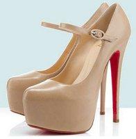 Туфли на высоком каблуке Special ] Women's sexy ankle strap thin high heel platform high heels pumps shoes 14 cm, nude and black