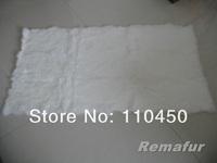 Free Shipping Natural Grey/ Natural Chinchilla  Rabbit Fur Plate(Factory Shop)