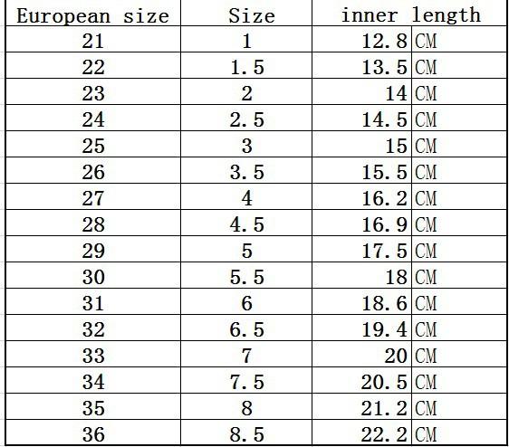 Uk  Size Conversion Shoes