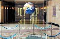 Transparent holographic rear projection projector screen for glasses window, opera house, station, design firms
