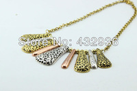 Ювелирный набор New Vintage Punk Style Taper Pendant Choker Necklace and Earrings Sets DRW-183