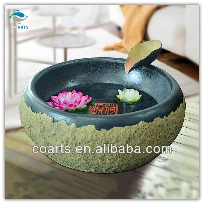 고전 연꽃 그릇 장식 항목입니다 거실 실내 분수 홈 장식-가정 ...