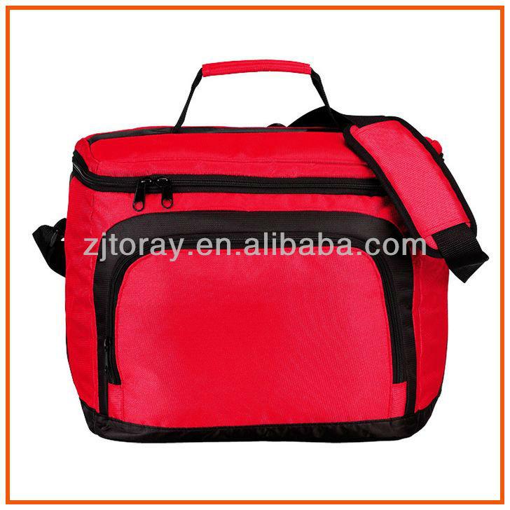 Heat-sealed PEVA Lining 420D Nylon Bottle Cooler Bag With Shoulder Strap