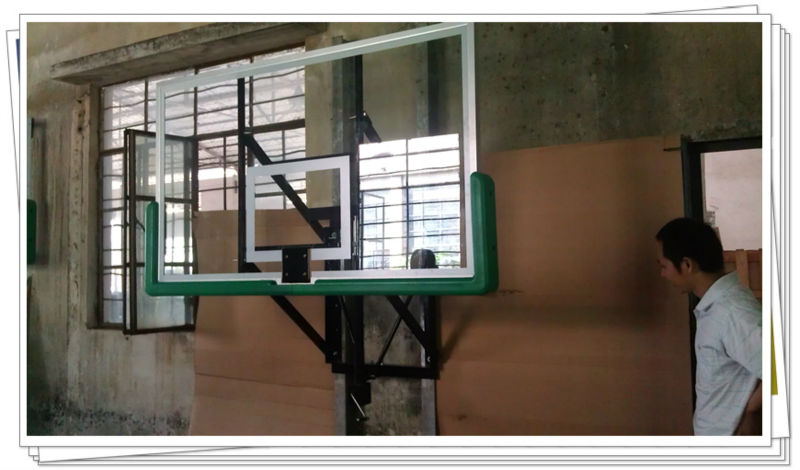 steel frame alumimum faces Tempered insulation glass basketball backboard