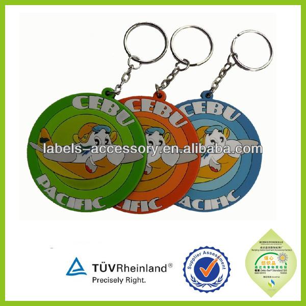 fashional promotion gift souvenir soft pvc rubber cute custom key cover