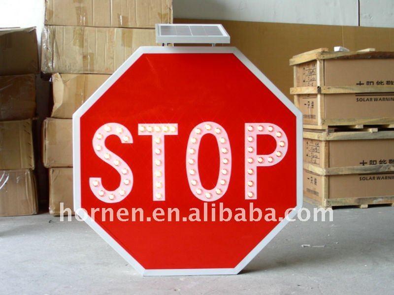 SOLAR ALUMINIUM TRAFFIC SIGN(MARK CAR STOP)