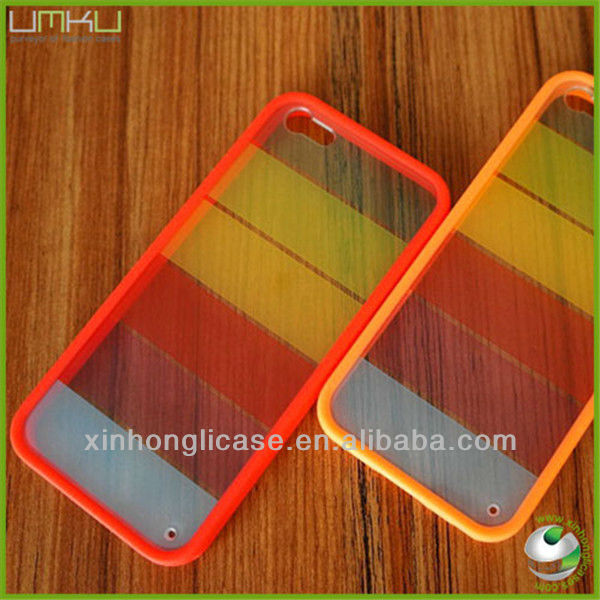 Wholesale TPU Color Phone Case For Iphone 5,Rainbow Case For Iphone 5