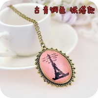 Колье-цепь Retro Jewelry, Long Necklace Oval Beauty Positive Models Sweater Chain N70