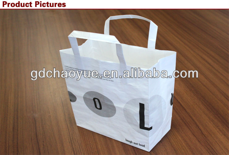 Promotional luxury paper printed shopping bags