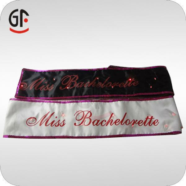 New Fashion Sash With Customized Logo