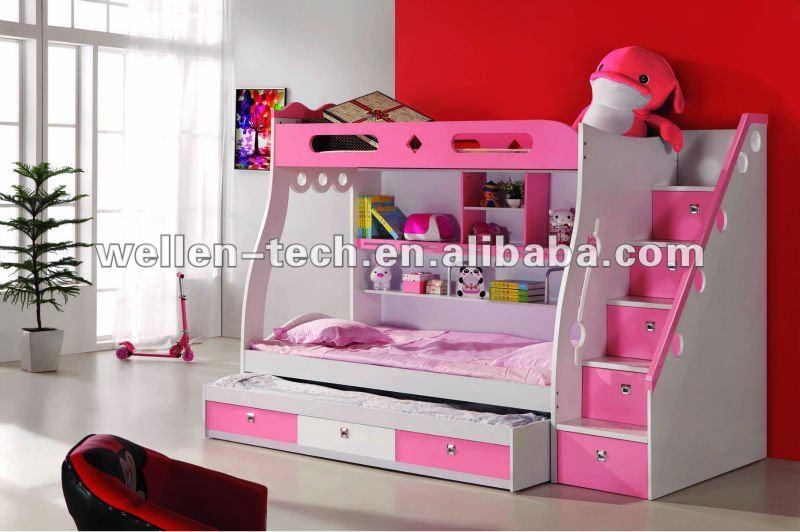 Br8803 stylest literas muebles para ni os muebles de los - Camas individuales infantiles ...