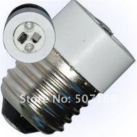 Запчасти и Аксессуары для автомобилей 50pcs/lot Good Quality E27 to MR16 Light Lamp Base Adapter Socket Converter Plastic White Best Price For Sample