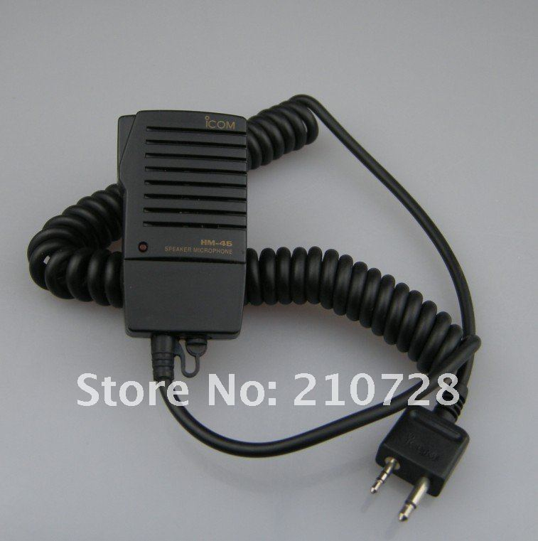 Free shipping MH-46 portable radio speaker mic for IC-V85