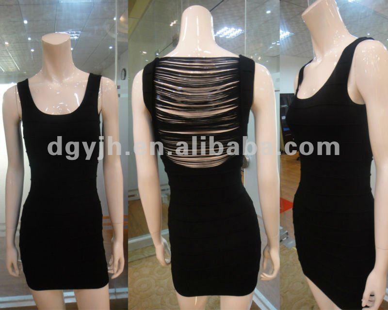 Sexy de mulheres negras vestido transparente W010