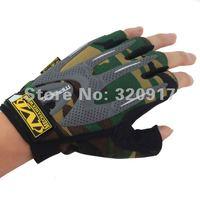 Мужские перчатки для велоспорта Military Tactical half finger camouflage OUTDOOR men Gloves Army police Sport Riding Gloves M L XL