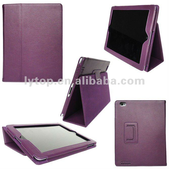 For iPad cover leather with stand paypal (2&3)