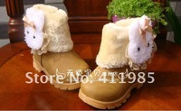 Free shipping 2012, Girls boots, snow boots, children, little rabbit shoes, short boots, 21-30